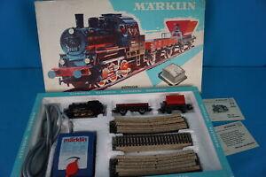 Marklin-2963-Starter-Set-60-ies-Steamer-2-Freight-Cars-set-1965