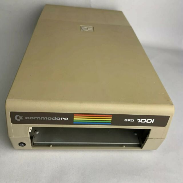 Commodore SFD-1001 Case & Internal Drive Cage IEEE Bare Floppy Drive No Chips