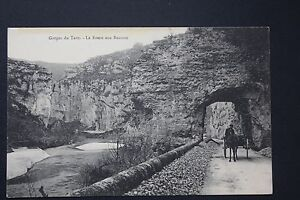 Postcard-Antique-CPA-Animated-Gorges-Tarn-La-Route-Aux-Balm
