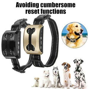 Anti-Bark-Dog-Shock-Collar-Trainer-Ultrasound-No-Barking-Rechargeable-Waterproof
