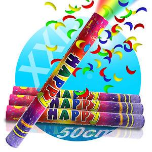 5x-Party-popper-Konfetti-Konfettikanone-50-cm-Schussweite-8-m-Kanone-Shooter