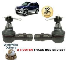 FOR DAIHATSU TERIOS 1997-2006 NEW 2x OUTER LEFT & RIGHT TRACK TIE RACK ROD END