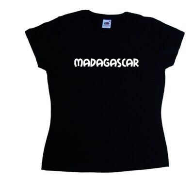 Madagascar text Ladies T-Shirt