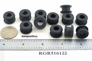 """6 Rubber Grommets 5//16/"""" Inner Diameter Fits 3//4/"""" panel hole in 1//4/"""" Thick Panel"""