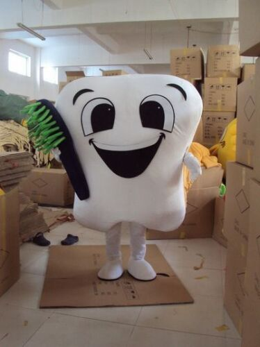 Party Street Outfits Tooth Mascot Costume Dental Care Adult Size Dress Cospaly A
