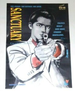 Promo-Poster-Sanctuary-Graphic-Novel-Vol-3-Viz-In-Vol-6-No-10-1994-Sho-Fumimura