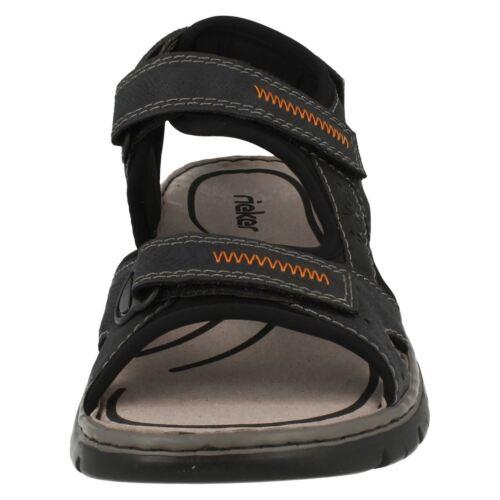 con blu sandali Rieker casuali cinturini Mens 26757 combinazione fzO6Oq