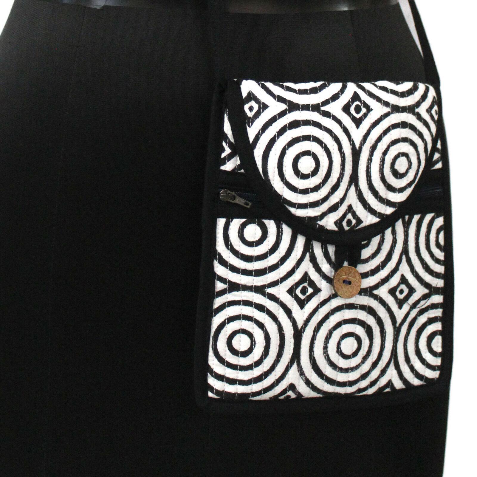 New 100% Cotton Girls Side Bag Cross Body Bag Circle Hand-Block Printed Side Bag