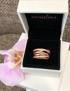 c85efb0a7 Pandora Rose Gold Entwined Ring Size 7.5 (56), W/Ring Box,Original ...