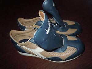 diadora womens classic low sneakers tennis shoes blue