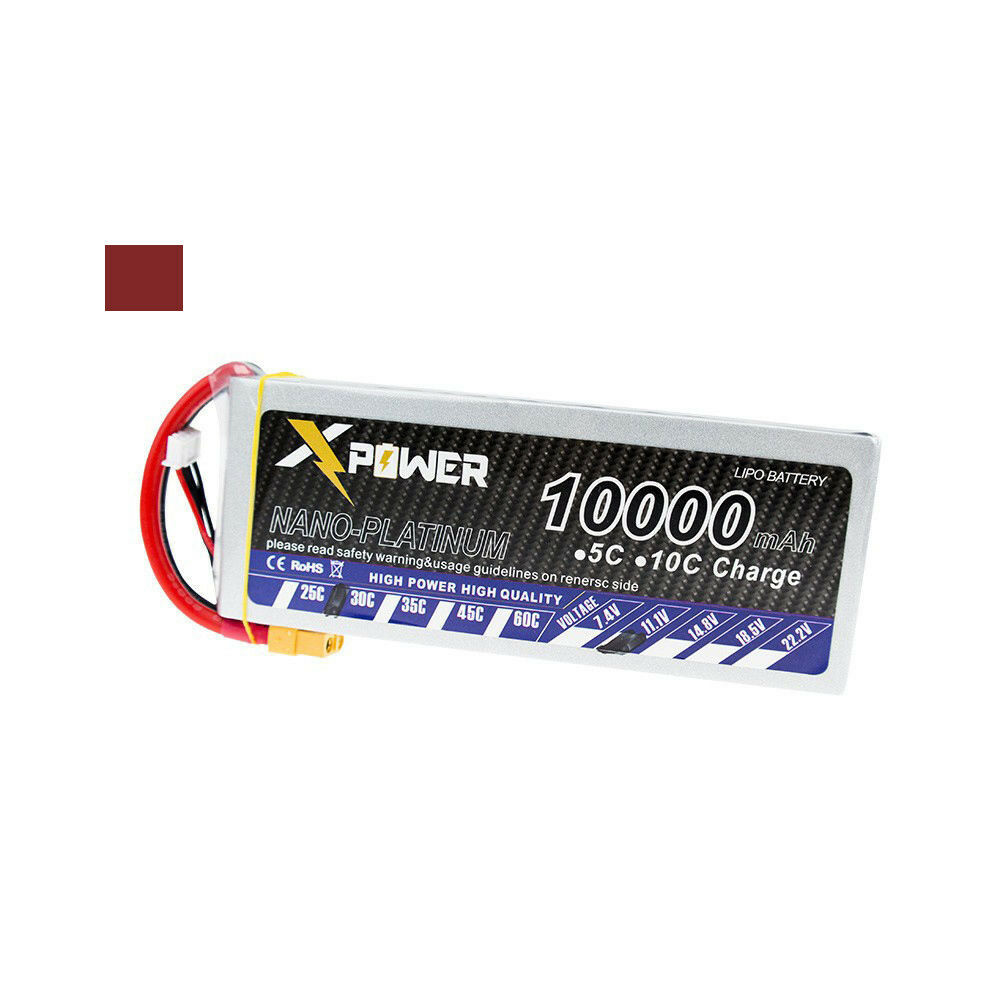 11.1V 10000mAh 3s lipo battery 30C Xpower batteries XT60 T EC5 for RC Helicopter