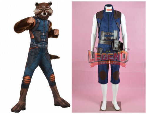 Guardians of the Galaxy Rocket Raccoon Cosplay Costume Adult Men/'s Halloween