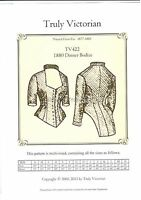 Sewing Pattern For 1880's Dinner Bodice Jacket Blouse Top Tv422 Uncut