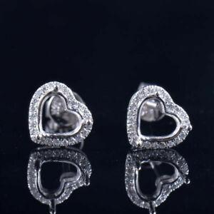 Resizable-Heart-6-6MM-Natural-Diamond-Screw-Back-Earrings-Setting-Stud-14K-Gold