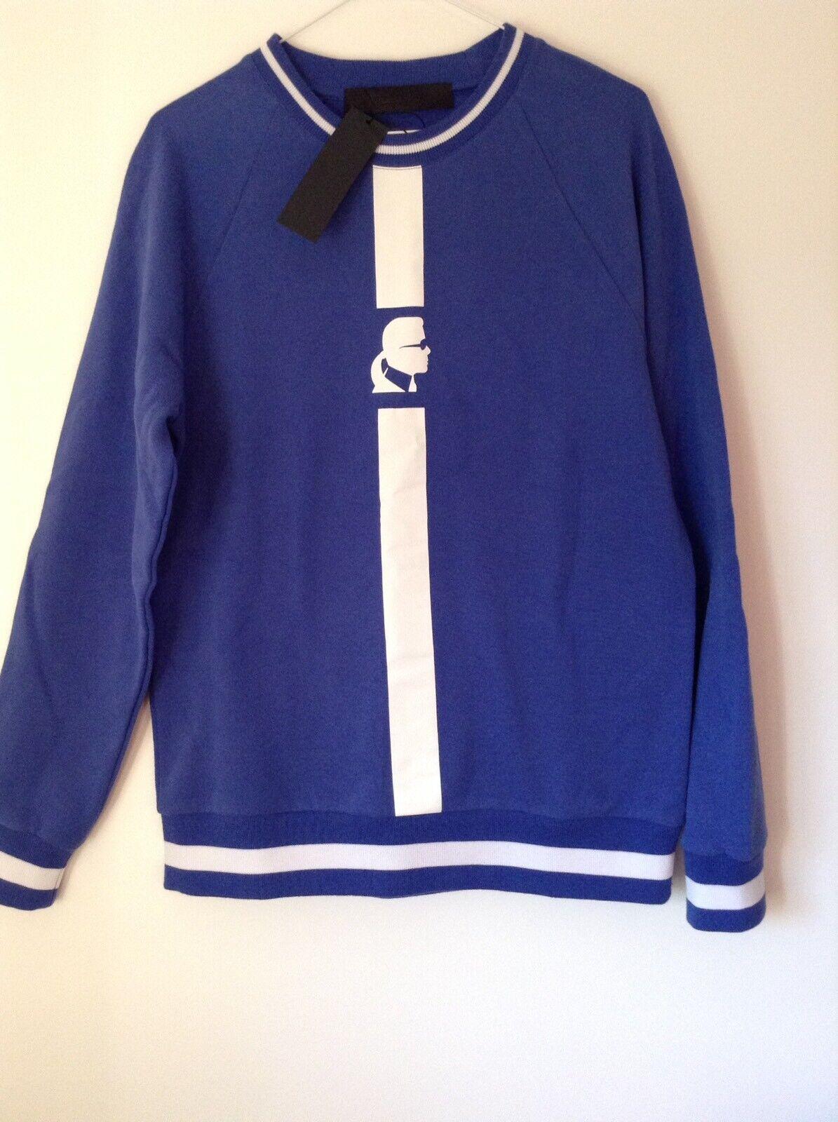 BNWT 100% Auth Karl Lagerfeld, Ladies bluee Logo Jumper. M RRP