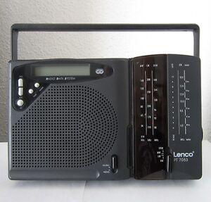 LENCO-PT-7053-RDS-Radio-tragbar-Weltempfaenger-UKW-MW-KW-LW-Kofferradio-Neu-Ulm