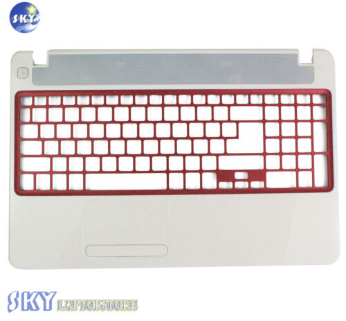 New Gateway NV52L NV52L06U UPPER Case Palmrest APONN00042 White w//red touchpad