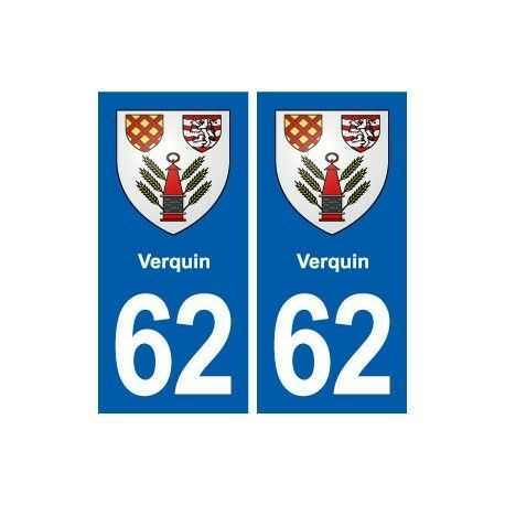 62 Verquin blason autocollant plaque stickers ville droits