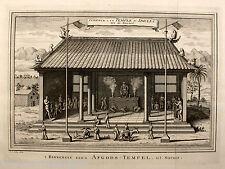 Tú interiores Temple Schley original 1757 hong kong Chinese Idols inside a pagode