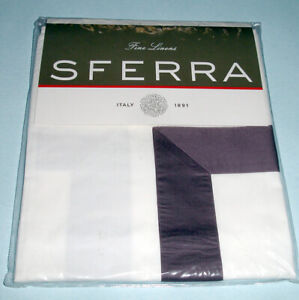Sferra DEAGAN Standard Sham Aubergine Purple Egyptian Cotton Percale New
