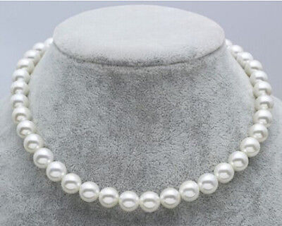 "New JAPANESE AKOYA PEARL NECKLACE 8-9mm White 17.5"" AAAA+"