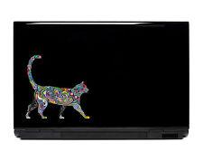 Ornate cat sticker decal laptop automotive netbook cats window stickers