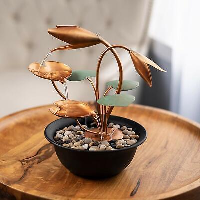 Indoor Mini Fountain Tabletop Waterfall Zen Home Decor Soothing Decorative Piece Ebay