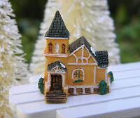 Miniature Dollhouse Fairy Garden Christmas Tiny 1 Snow Village Church