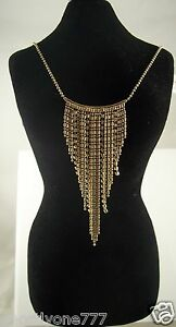 Fancy-dangle-v-shape-Necklace-for-holiday-party-bling-gold-tone-crystal-elegant