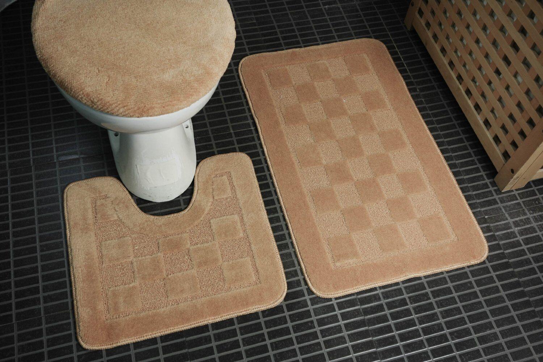 Bathroom Decor Floor Rugs Shower Mats Set Carpet 3 Piece Sets Free Shipping