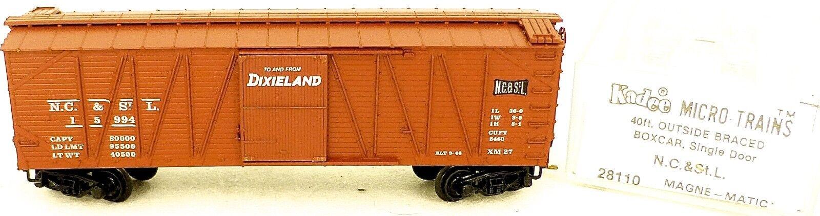 40 ´ Outside Braced Boxcar N.C.&st.l. 1 15994 Micro Trains Line 28110 N 1 N.C.&st.l. 160 C Å 1a7d7d