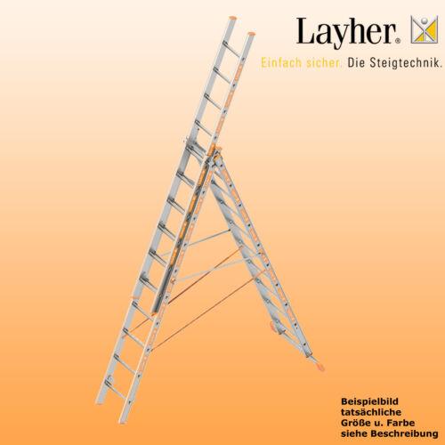 Layher Alu Allzweckleiter 3-teilig Multifunktionsleiter 3x10 Spr. Typ 1040.010