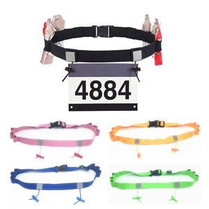 Sport-Triathlon-Marathon-Belt-Running-Race-Number-Holder-Waist-Bib-Belt-Unisex