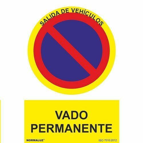 Señal Vado Permanente PVC 21x30cm  Rojo