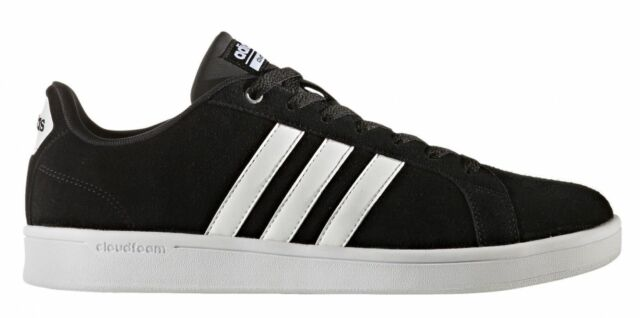 Men Adidas CF Advantage Sneaker Suede B74226 Black White 100%Authentic  Brand New