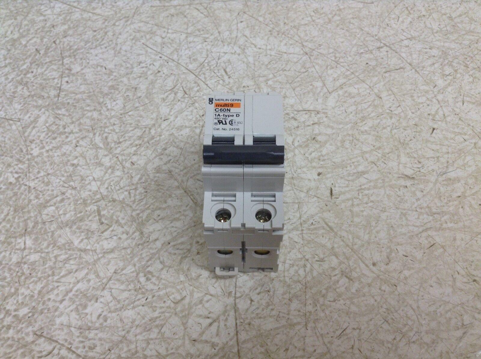 Merlin Gerin D 1a Multi 9 C60 Circuit Breaker 24516 1 Amp 2 Pole Ebay Warmafcibreakersafcicircuitjpg