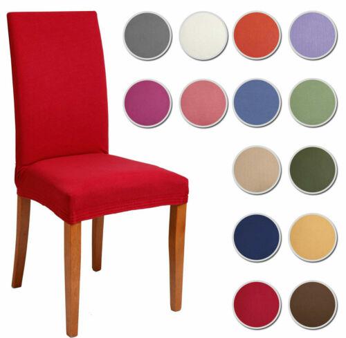 6 COPRISEDIA vesti sedia 6 pezzi TINTA UNITA MILLERIGHE 13 colori elasticizzato
