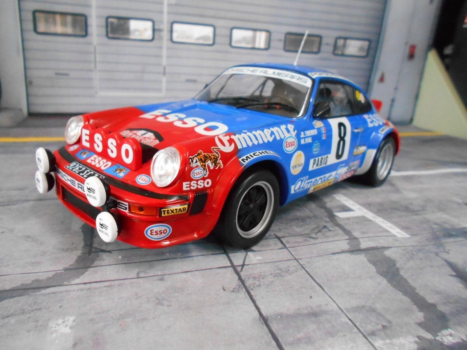 PORSCHE 911 SC rallye Monte billo 1982 Therier Almeras RAR IXO Altaya 1 18