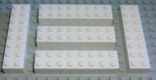 401 Lego Stein 2x8 Weiss 5 Stück