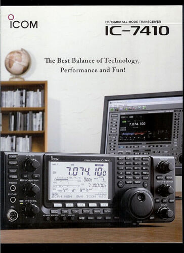 ICOM IC-7410 HF//50 MHz All Mode HAM Radio DEALER BROCHURE READ DESCRIPTION!