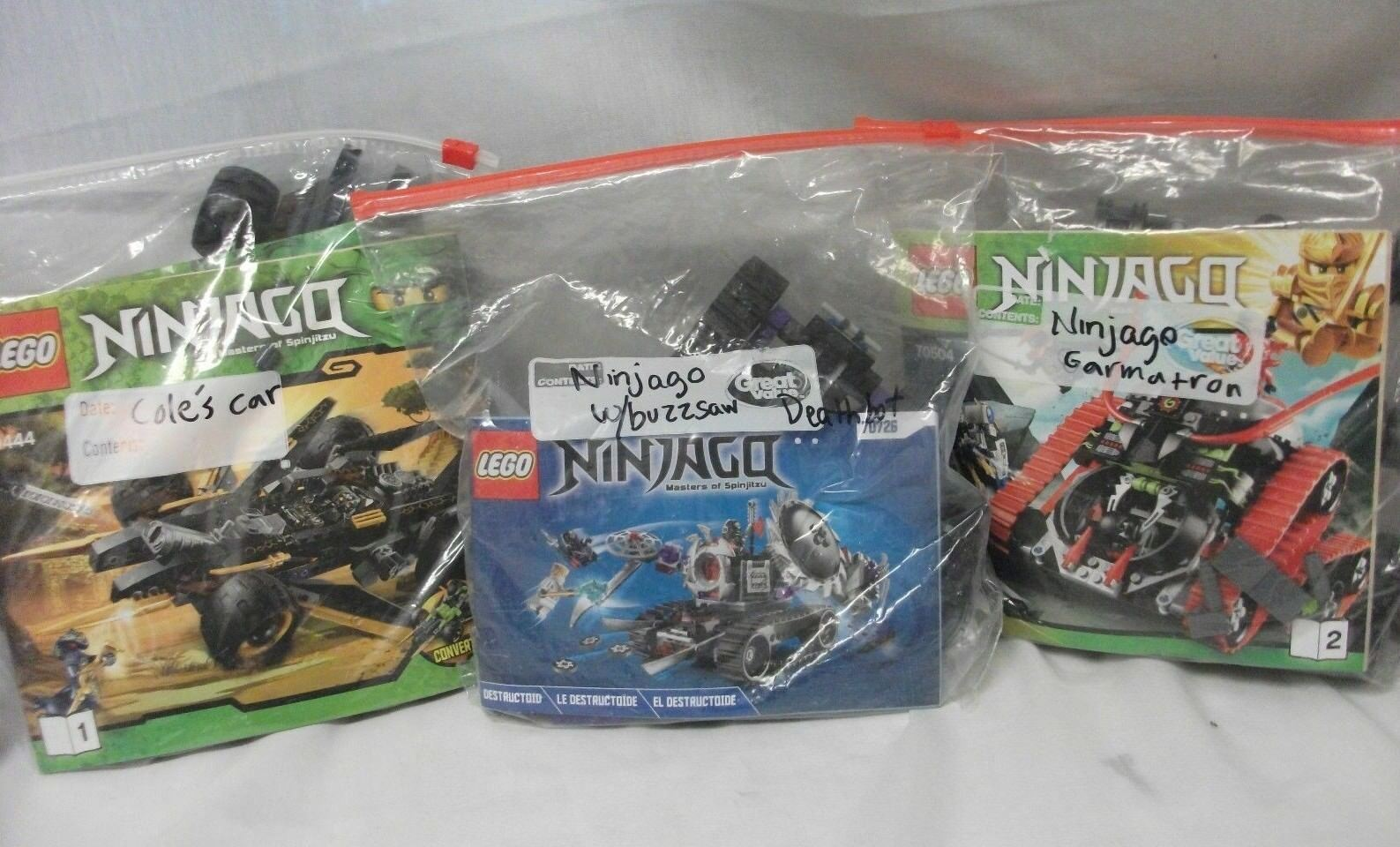 LOT OF 3 Lego Ninjago Masters of Spinjitsu 70504 70726 9444