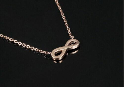 Edelstahl Infinity Halskette Rosegold Rose Gold Kette Unendlich Symbol Liebe