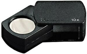 Eschenbach-Precision-Folding-Tapered-Case-Magnifier-23mm-10X-Coin-Diamond-Stamps