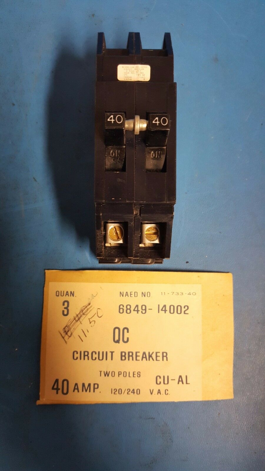 Zinsco Sylvania Type Qc Qc40 40 Amp 2 Pole 120 240 Vac Circuit 20a Afci Breaker Chfcaf120neweggcom Norton Secured Powered By Verisign