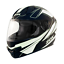 miniature 1 - Motorcycle-Helmet-Full-Face-DOT-Snell-Zox-Primo-C-Matte-White-Black-Race-Track