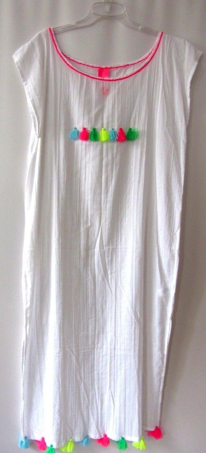 Strandkleid Kleid Gr. L  beach cover up Damen reine Baumwolle Marke 457