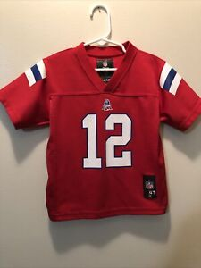 Details about Tom Brady Throwback New England Patriots Blue Jersey Kids Toddler 4T