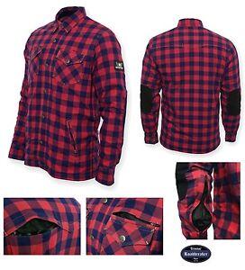 Bores-Lumberjack-Camisa-Chaqueta-de-Moto-100-Seguridad-Forro-Interior-Kev