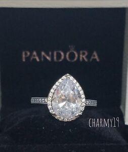 01d01f562 NEW!Authentic Pandora Radiant Teardrop Clear CZ Ring #196251CZ $100 ...