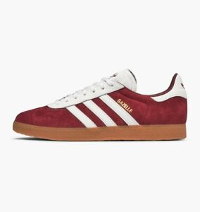 alineación Casco Birmania  ADIDAS GAZELLE - BURGUNDY / WHITE - AQ0878 - UK 9, 10, 11 | eBay